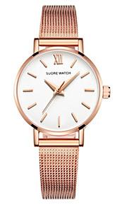 Mulheres Relógio de Moda Quartzo Lega Banda Prata Dourada