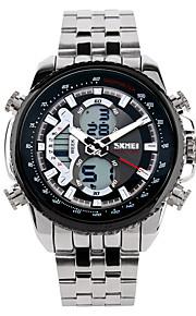 Homens Relógio Esportivo Relógio Elegante Relógio de Moda Relógio de Pulso Chinês Digital Calendário Aço Inoxidável BandaPendente Legal