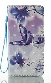 케이스 아이폰 7 플러스 7 카드 홀더 지갑 스탠드 플립 패턴 케이스 전신 케이스 3d 나비 하드 pu 가죽 6s 플러스 6s 5 5s se