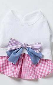 Dog Dress Dog Clothes Party Casual/Daily Birthday Holiday Cosplay Fashion Wedding Christmas New Year's Plaid/Check Blushing Pink Black