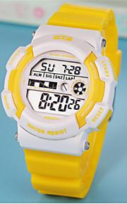 Homens Relógio de Moda Chinês Digital Borracha Banda Casual Branco Rosa Roxa Amarelo