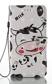 케이스 아이폰 7 플러스 7 카드 홀더 지갑 스탠드 플립 패턴 케이스 전신 케이스 3d 암소 하드 pu 가죽 6s 플러스 6s 5 5s se