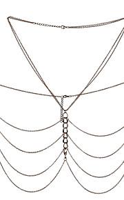 Dame Kropssmykker Krops Kæde / mavekæde Natur Mode Vintage Boheme Stil Håndlavet Tyrkisk Gotisk Legering Geometrisk form Smykker For