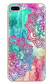 애플 아이폰에 대 한 7 7 플러스 6s 6 플러스 케이스 커버 색상 대각선 꽃 패턴 hd 페인트 tpu 소재 소프트 케이스 전화 케이스