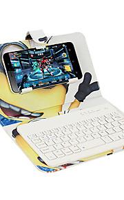 키보드 플립 패턴 전신 케이스와 스탠드 케이스 커버 유니버설 아이폰 7 7plus 6s 6 블루투스 키보드 만화 하드 PU 가죽
