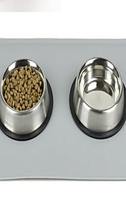 Feeding bestek Hond Placemats Overige Other Huisdieren Kommen & Voedenwaterdicht Draagbaar Dubbelzijdig Vouwbaar Opvouwbaar