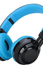 Wt-07 dobrando auscultadores estéreo bluetooth sem fio fones de ouvido ajustáveis com 3 luzes led suporta micro tf cartão fm rádio