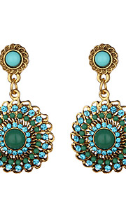 Women's Drop Earrings Acrylic Dangling Style Alloy Round Jewelry For Dailywear Casual Stage
