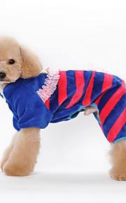 Hund Overall Hundekleidung Lässig/Alltäglich Streifen Orange Blau Rosa