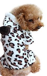 Hund Kapuzenshirts Overall Hundekleidung Lässig/Alltäglich Leopardenmuster