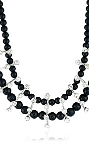 Women's Statement Necklaces Diamond Jewelry Pearl Alloy Euramerican Jewelry For Party Special Occasion Daily Casual 1pc