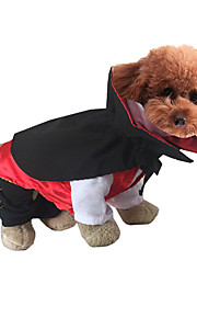 Kat Hund Kostume Hundetøj Halloween Tegneserie Hvid Sort Rød Grøn Jægergrøn