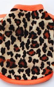 Gato Cachorro Casacos Camiseta Moletom Roupas para Cães Festa Casual Mantenha Quente Leopardo Preto Leopardo