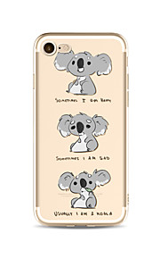 Caso per iphone 7 plus 7 coperchio trasparente modello copertura posteriore cartone animato koala soft tpu per mela iphone 6s più 6 più 6s