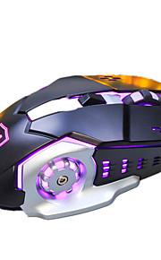 Ajazz aj110 6keys 3200dpi usb-Hintergrundbeleuchtung verschlimmernde mechanische Maus mit 180cm Kabel