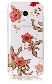 케이스 삼성 갤럭시 a3 (2017) a5 (2017) 케이스 커버 꽃 패턴 높은 투명 tpu 소재 imd 공예 시폰 휴대 전화 케이스