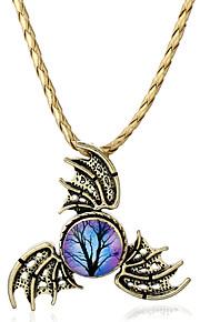 Dame Halskædevedhæng Opal Vinger / Fjer Legering Euro-Amerikansk Vintage Personaliseret Smykker Til Afslappet Udendørsbeklædning