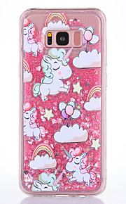 Case For Samsung Galaxy S8 S8 Plus Case Cover Unicorn Pattern TPU Material Full Soft Love Flash Powder Quicksand Phone Case For S7 S7 Edge