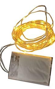 1W Verlichtingsslingers 80 lm Batterij V 2 m 20 leds Warm Wit Wit RGB Rood Geel Blauw Groen Paars Roze
