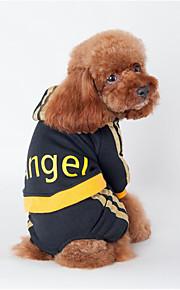 Hund Kapuzenshirts Overall Hundekleidung Lässig/Alltäglich Buchstabe & Nummer Schwarz Rosa