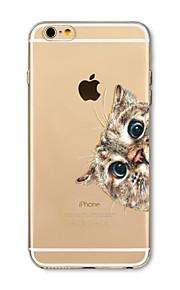 Hoesje voor iphone 7 plus 7 hoesje transparant patroon achterhoes hoesje kat bloem zacht tpu voor iphone 6s plus 6 plus 6s 6 se 5s 5c 5 4s