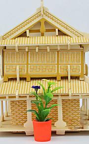 Puzzle Puzzle 3D Costruzioni Giocattoli fai da te Edificio in stile orientale