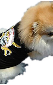 Dog Shirt / T-Shirt Dog Clothes Casual/Daily Skulls Black