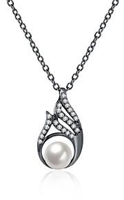 Dame Halskædevedhæng Krystal Kvadratisk Zirconium Imiteret Perle Oval form Geometrisk formKrystal Imiteret Perle Zirkonium Kvadratisk