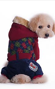 Hund Kapuzenshirts Overall Hundekleidung Lässig/Alltäglich Britisch Rot Grün