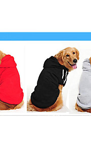 Dog Sweater Sweatshirt Dog Clothes Casual/Daily Solid Ruby Yellow Gray Black