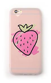 Tilfelle for eple iphone 7 pluss 7 tilfelle dekselet frostet gjennomsiktig mønster bakdeksel tilfelle frukt myk tpu for iphone 6s pluss 6