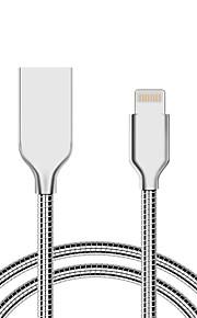 USB 2.0 Normal Cable Para iPhone iPad cm Aluminio