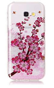 Przypadku samsung galaxy a5 (2017) a3 (2017) sprawy telefonu tpu materiału imd proces śliwki kwiatu hd flash proszku telefonu przypadku
