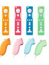 skyddande silikonfodral för Wii / Wii U fjärrkontroll och Nunchuk (4-pack, blandade färger)
