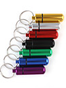 Small Metal Medicine Bottle and Container with Keychain(7 Color to Choose)