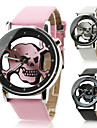 Unisex Women\'s Men's Watch Quartz Analog Hollow Skull Dial PU Band Halloween Wrist Watch (Assorted Colors) Cool Watches Unique Watches Fashion Watch