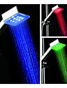3-inch Square 9–LED Shower Head (Plastic, Chrome Finish)