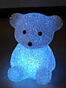 미니 곰 스타일 크리스탈 밤 빛 (랜덤 색상)