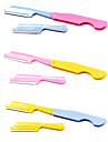 Folding Eyebrow Razor with Additional Blade