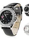femmes à la mode montre-bracelet analogique pu quartz (couleurs assorties)