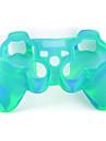 de proteccion de doble color de estilo funda de silicona para el mando de PS3 (amarillo y verde)