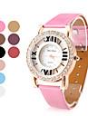 полый Пу женская кожаная аналоговые кварцевые наручные часы с кристаллами (разных цветов)