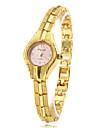 Women\'s Fashionable Style Alloy Analog Quartz Bracelet Watch (Gold) Cool Watches Unique Watches Strap Watch