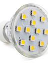 3W GU10 Точечное LED освещение MR16 12 SMD 5050 150 lm Тёплый белый AC 220-240 V