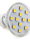 3W GU10 LED Spotlight MR16 12 SMD 5050 150 lm Warm White AC 220-240 V