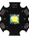 diy cree 10w 7000k luz 1000lm branco levou emissor com base de aluminio (3.2-3.6V)
