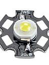 BRIDGELUX 6000-6500k 1W 100-110lm 350mAh witte LED-lamp met een aluminium plaat (3.0-3.4V)