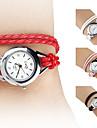 Reloj Brazalete Analogo Quartz de Cuero PU para Mujer (Colores Surtidos)