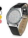 unisex pu analoginen kvartsi rannekello (eri värejä)