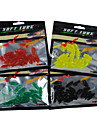 20 pcs Soft Bait / Lure kits Black / Green / Yellow / Red g Ounce mm inch,PVCSea Fishing / Freshwater Fishing / Bass Fishing / Lure